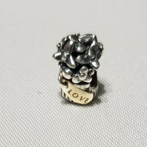 Pandora bead with Love gold detail